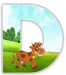 Alfabeto de vaca en el campo. | Oh my Alfabetos!