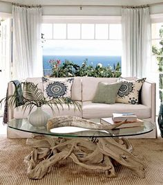 Find your Coastal Coffee Table Style. Driftwood Table: http://www.completely-coastal.com/2014/08/coastal-coffee-table-styles.html