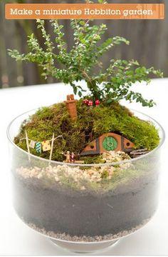 Make your own mini Hobbiton-  http://craft.tutsplus.com/tutorials/decorations/make-your-own-miniature-hobbiton-garden/