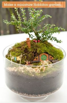 Make your own mini Hobbiton-  http://craft.tutsplus.com/tutorials/decorations/make-your-own-miniature-hobbiton-garden/