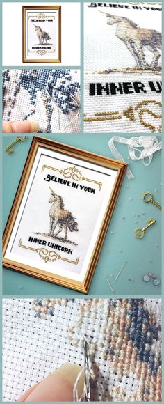 So much yes for this funny cross stitch pattern, unicorns are the best