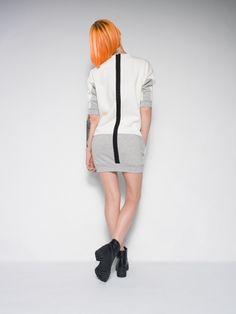CREAMY SWEAT DRESS winter warm dress