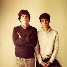 Jesse Eisenberg and Andrew Garfield - I miss these guys together. Can't we have a sequel? The Social Network 2: Eduardo's Reveng...