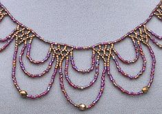Lace Beadwoven Necklace would make a pretty ornament