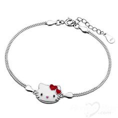 Cute Holle Kitty Fashion 925 Sterling Silver Bracelet Jewellery 2013