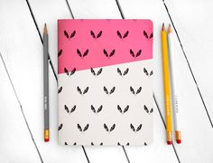 Hey, I found this really awesome Etsy listing at https://www.etsy.com/listing/162724481/feather-pattern-pink-notebook-large