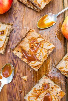 Salted Caramel Apple Cheesecake Bars Recipe
