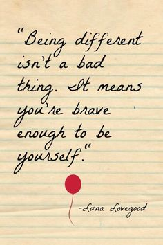 harry potter quotes being different isnt a bad thing. it means you are brave enough to be yourself Motivacional Quotes, Cute Quotes, Words Quotes, Qoutes, Film Quotes, Harry Potter Images, Harry Potter Jokes, Harry Potter Quotes Wallpaper, Harry Potter Book Quotes