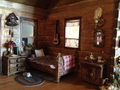 Dollhouse cabin interior finished