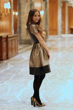 Faux leather color block dress tutorial