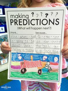 FREE graphic organizer for Making Predictions. Plus, I love the predicting anchor chart in this post!