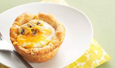 Add whatever toppings you'd like to customize these Baked Eggs in Biscuit Cups.