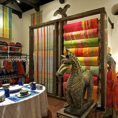 #16 Shop at Barefoot - Colombo, Sri Lanka.  Owned by designer Barbara Sansoni, shop for a beautiful spread of hand woven clothes and an array of household linens.