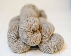 Lilac & White Blended Jacob Wool Yarn - 2 ply, worsted weight.. $15.00, via Etsy.
