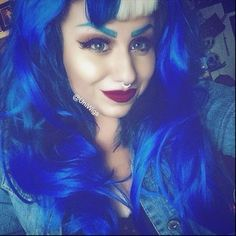 #gothhair Inspiration -  Long #crazycolours #haircoloring with Watermans #GrowMe Shampoo #halloween #halloweenhair #halloweenhairstyles