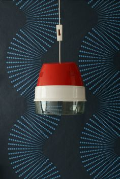 Smashing red retro pendant lamp  upcycled hair dryer by LucaTiesso, €82.00