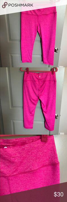 Pink Workout Capris Brand new, never worn pink Workout Capris! 90 Degree By Reflex Pants Capris
