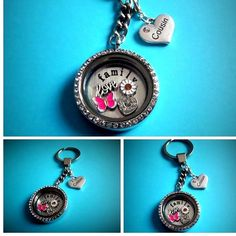 30mm **new** COUSIN filled living memory locket - choice chain -FREEPOST