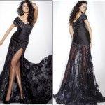 Siyah Dantel Elbise-7