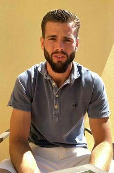 Nacho Fernandez Nachos, Nacho Fernandez, Sports Celebrities, Soccer Players, Real Madrid, Beards, Sexy Men, Polo Shirt, Fur