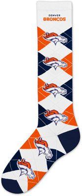 Denver Broncos Women's Knee High Argyle Socks