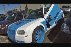 Panthers themed Vehicles Custom Chrysler Panthers Football, Trucks, Vehicles, Car, Automobile, Truck, Autos, Cars, Vehicle