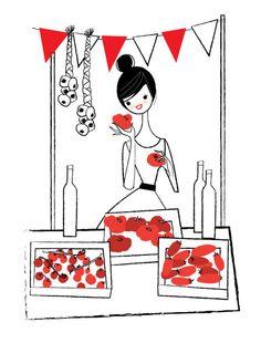 Market day- the tomato stall. Nila Aye