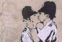 Banksy's 'Kissing Cops' to Be Shipped to America and Sold Banksy Art, Graffiti, Gossip Column, Transfer Rumours, Modern Art Paintings, Buy Art Online, Street Artists, Cops, How To Make Money