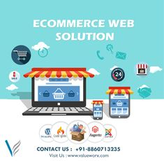 Sell your product online with your own ecommerce website, get in touch with valueworx solution we are one of leading company which give the service of ecommerce website Design and Development in Delhi, we make customize ecommerce website design and development according to you choice and need, call us today and easily get Ecommerce website design and development in Delhi