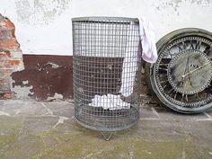 Wäschekorb INDUSTRIAL shabby  von Gerne Wieder auf DaWanda.com