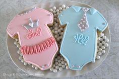 Cute gender reveal cookies (Clough'D 9). | Shop. Rent. Consign. MotherhoodCloset.com Maternity Consignment