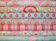 Red Palette / Little Azalea from Dena Designs  / 7 Half Yard Bundle - Cotton Quilt Apparell Fabric