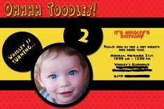 This is the first draft of the invitations for Wrigley's 2nd birthday