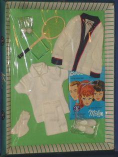 Ken Barbie Doll Time for Tennis Outfit Mattel 1963 | eBay