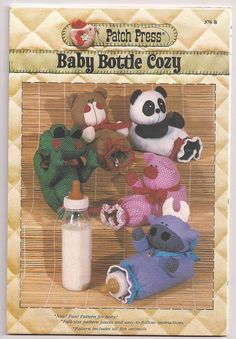 Baby Bottle Cozy, Bottle Cover, Animal Bottle Cozy, Animal Bottle Cover, Baby Shower Gift, Gift for Baby, Patch Press 376B, Vintage 1984 ©1984  Pattern is uncut and in factory folds.  All patterns are in uncut & factory fold condition unless otherwise stated. Some patterns will look new while others have light to heavy wear...tears, store stamps, fraying, side curls, writing and old prices.  Vintage patterns--pieces are counted and then refolded.  Patterns, books and all other inventory are…