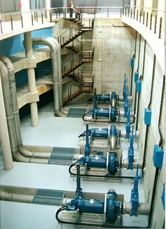 water treatment plant structure and piping