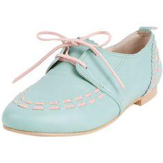 Le Bunny Bleu Romantic & Vintage Flat Shoes ($59) ❤ liked on Polyvore
