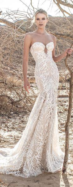 lian rokman 2017 bridal strapless sweetheart neckline full embellishment elegant trumpet wedding dress chapel train (diamond) mv -- Lian Rokman 2017 Wedding Dresses