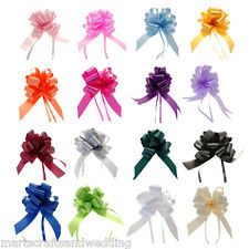 30mm Pull Bow Decorations Medium Xmas Gift Wrap, Wedding Car, Pew Floristry Bows