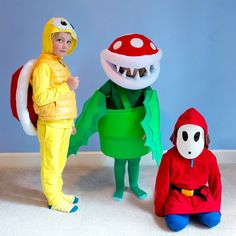 Nothing says Halloween like this perfect DIY kids Mario villains group costume using super soft Primary basics. Villain Costumes, Pet Costumes, Group Costumes, Halloween Costumes, Mario Costume Diy, Easy Diys For Kids, Kids Diy, Baby Kids, Baby Boy