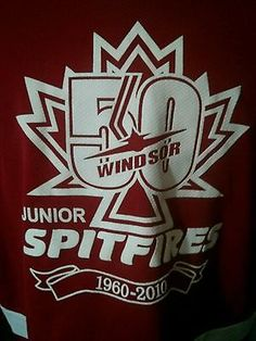 Windsor 50th anniversary jr  Spitfires Game Worn  Jersey OMHA  OHL CHL