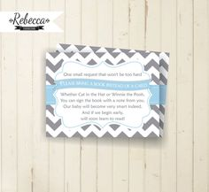 baby shower insert baby blue card printable by RebeccaDesigns22