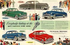 Vintage Ads Art - Vintage 1951 Advert General Motors Car GM by Nomad Art And Design Vintage Advertisements, Vintage Ads, General Motors Cars, American Auto, Car Posters, Car Advertising, Pedal Cars, Ad Art, Vintage Bicycles