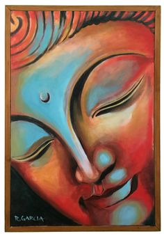 Items similar to Awake painting by Ruben Garcia Buddha Budda Wall Art Buddha Painting zen maeditation namaste om mani padme hum Tibetan Buddhism Peace on Etsy Buddha Drawing, Buddha Painting, Canvas Painting Designs, Painting Prints, Buddha Wall Art, Soft Pastel Art, Art Drawings Sketches Simple, Ganesha Art, Indian Art Paintings