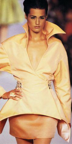1991 - Claude Montana for Lanvin Couture show - Yasmin Lebon