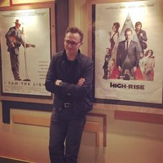 wendy7777:  Tom hiddleston @ Q&A last night between two of his films posters  ( he looks so proud)   Source: https://twitter.com/estreetcinema/status/715201073070391297