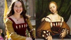 I ran across a historical painting, and the dress the model is wearing looks very similar to Susan's coronation dress from Prince Caspian. It might be pure coincidence, but I know that the Narnia costume designer often used historical pictures for reference. So it is quite possible that Susan's dress was inspired by this one! Amazing!