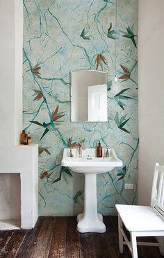 Augusta  _ Wall&Deco WET Wallpaper Carta da parati per doccia e bagno _ disponibile da Spazio Materiae Napoli www.spaziomateriae.com