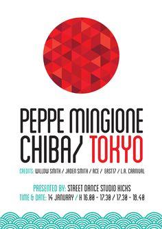 Dance Show Poster - Peppe Mingione live in Tokyo, Japan by Oriana Gaeta, via Behance