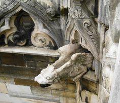 Gargoyles from the Duomo di Milano cathedral in Milan, Italy.